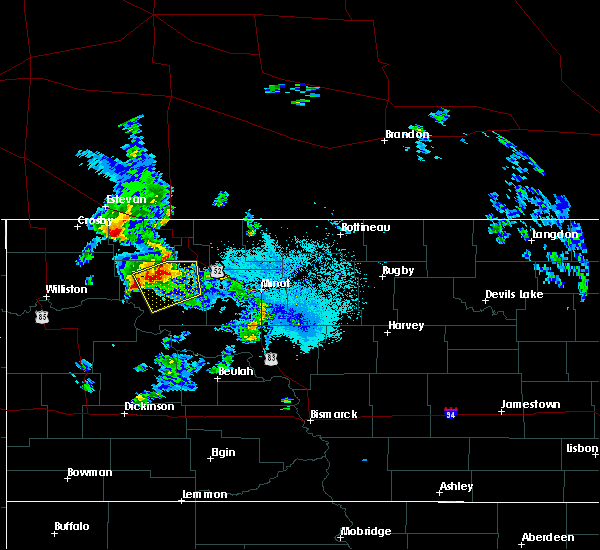 Radar Image for Severe Thunderstorms near Palermo, ND at 6/14/2020 9:22 PM CDT