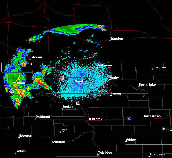Radar Image for Severe Thunderstorms near Palermo, ND at 6/15/2020 12:36 AM CDT