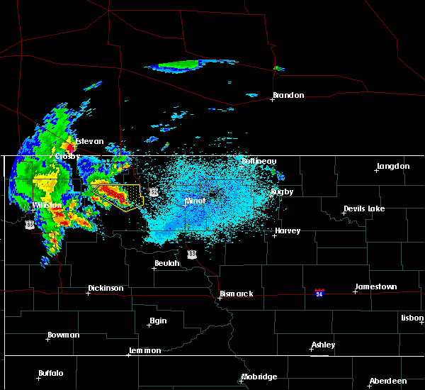 Radar Image for Severe Thunderstorms near Palermo, ND at 6/15/2020 12:55 AM CDT