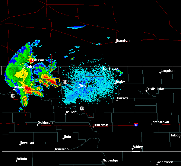 Radar Image for Severe Thunderstorms near Palermo, ND at 6/15/2020 1:05 AM CDT