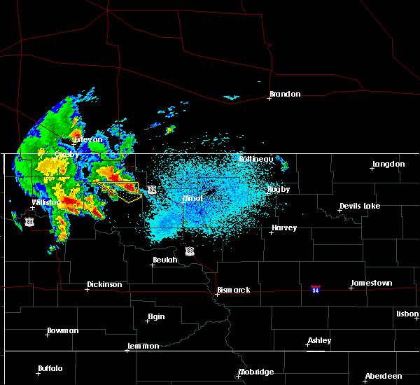 Radar Image for Severe Thunderstorms near Donnybrook, ND at 6/15/2020 1:16 AM CDT
