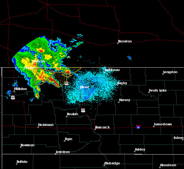 Radar Image for Severe Thunderstorms near Donnybrook, ND at 6/15/2020 1:56 AM CDT