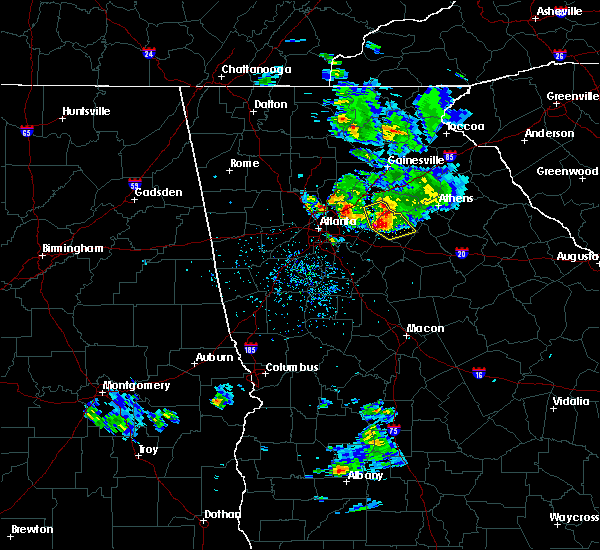 Radar Image for Severe Thunderstorms near Oxford, GA at 6/15/2020 4:25 PM EDT