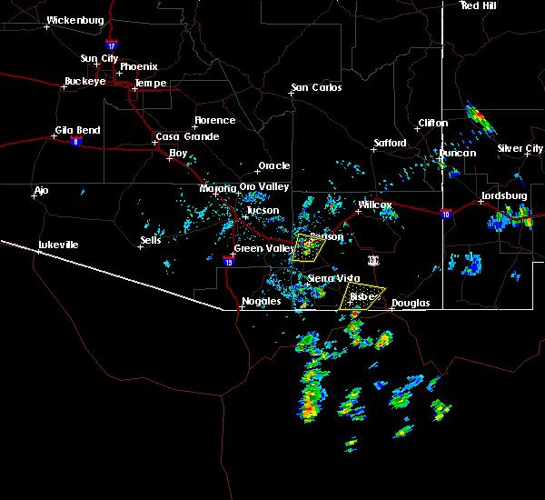 Radar Image for Severe Thunderstorms near Benson, AZ at 6/15/2020 2:20 PM MST