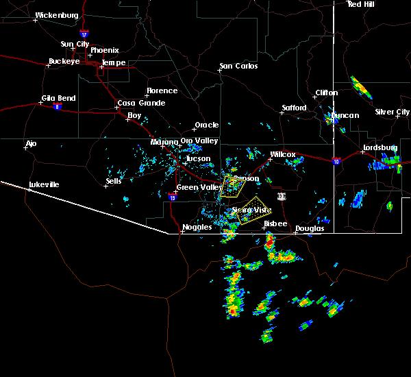 Radar Image for Severe Thunderstorms near Benson, AZ at 6/15/2020 2:40 PM MST