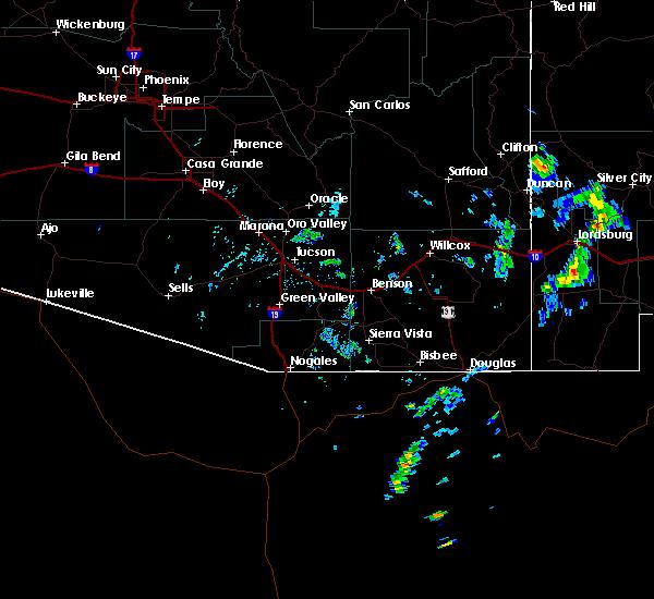 Radar Image for Severe Thunderstorms near Douglas, AZ at 6/16/2020 4:10 PM MST