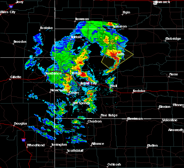 Radar Image for Severe Thunderstorms near Dupree, SD at 6/16/2020 8:43 PM MDT