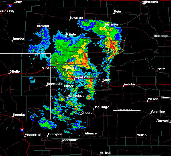 Radar Image for Severe Thunderstorms near Dupree, SD at 6/16/2020 9:08 PM MDT