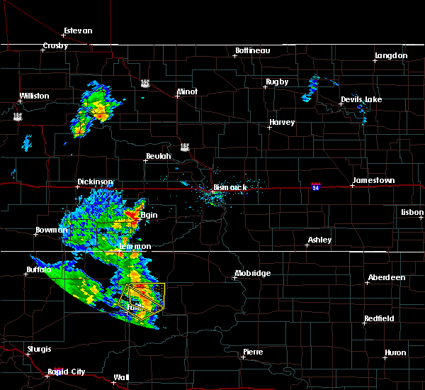 Radar Image for Severe Thunderstorms near McIntosh, SD at 6/16/2020 9:12 PM MDT