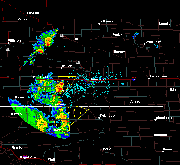 Radar Image for Severe Thunderstorms near Almont, ND at 6/16/2020 10:29 PM CDT