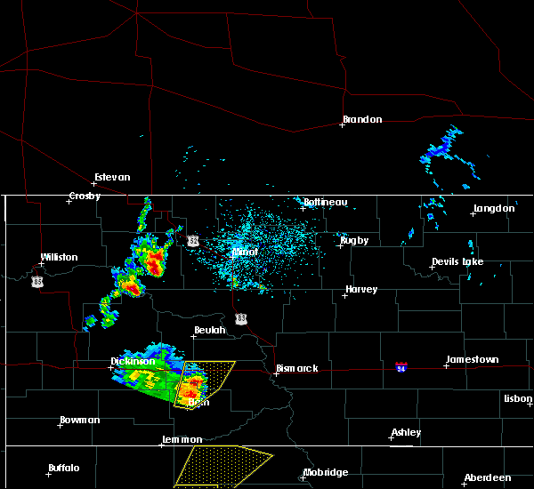 Radar Image for Severe Thunderstorms near Palermo, ND at 6/16/2020 10:31 PM CDT