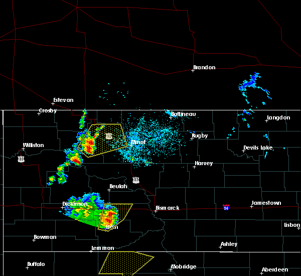 Radar Image for Severe Thunderstorms near Plaza, ND at 6/16/2020 10:35 PM CDT