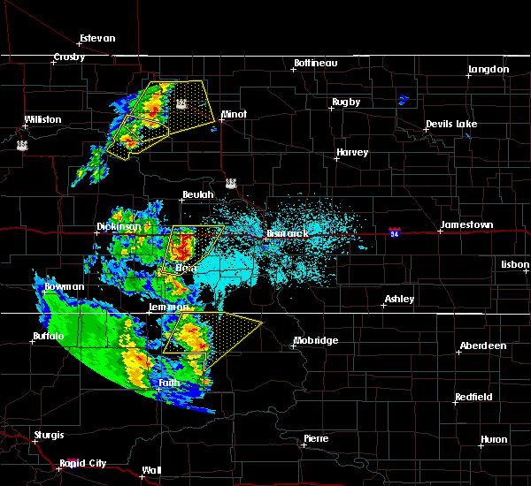 Radar Image for Severe Thunderstorms near Almont, ND at 6/16/2020 10:44 PM CDT