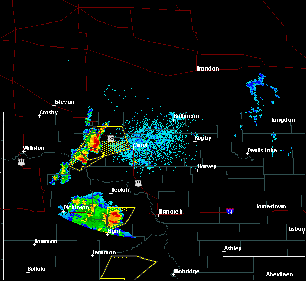 Radar Image for Severe Thunderstorms near Plaza, ND at 6/16/2020 10:48 PM CDT