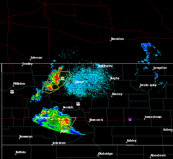 Radar Image for Severe Thunderstorms near Palermo, ND at 6/16/2020 10:53 PM CDT