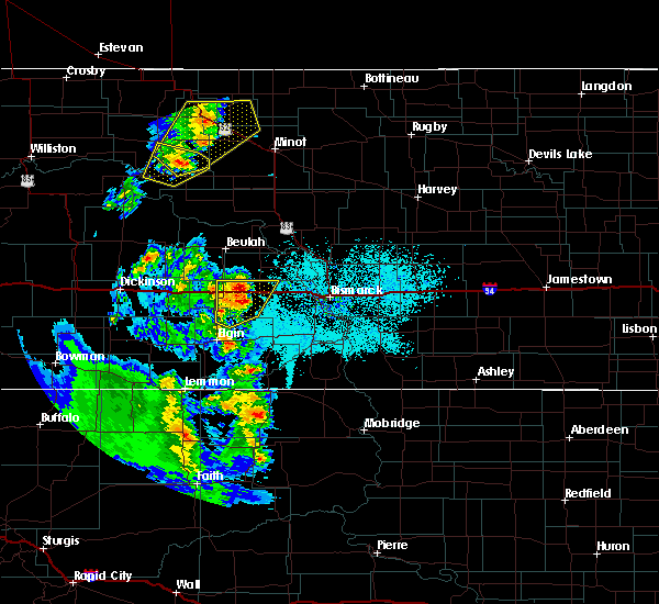 Radar Image for Severe Thunderstorms near Almont, ND at 6/16/2020 10:56 PM CDT