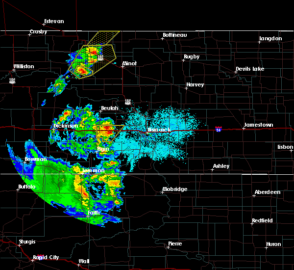 Radar Image for Severe Thunderstorms near Center, ND at 6/16/2020 11:08 PM CDT