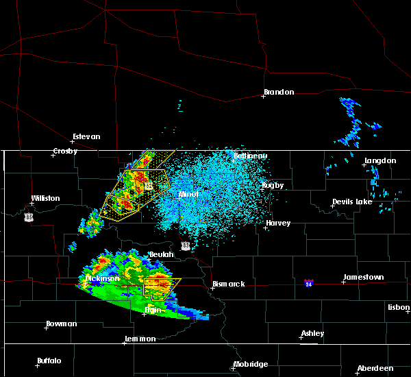 Radar Image for Severe Thunderstorms near Donnybrook, ND at 6/16/2020 11:11 PM CDT