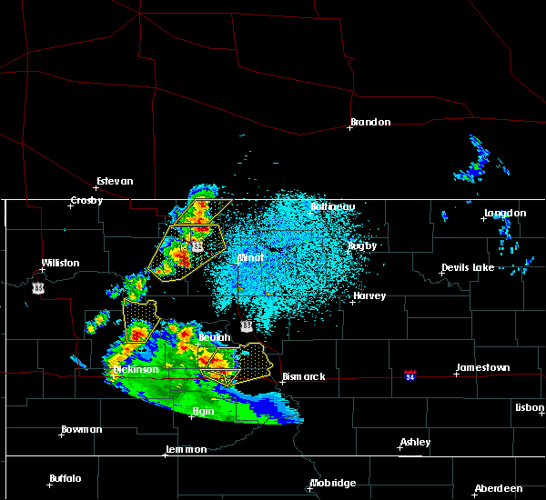 Radar Image for Severe Thunderstorms near Donnybrook, ND at 6/16/2020 11:20 PM CDT