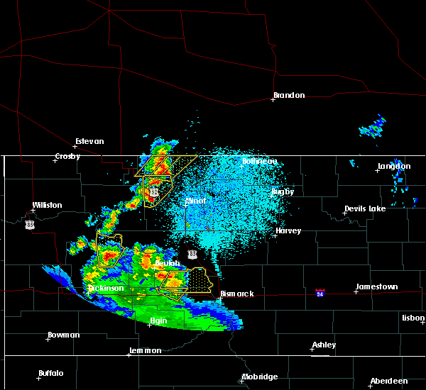 Radar Image for Severe Thunderstorms near Donnybrook, ND at 6/16/2020 11:27 PM CDT