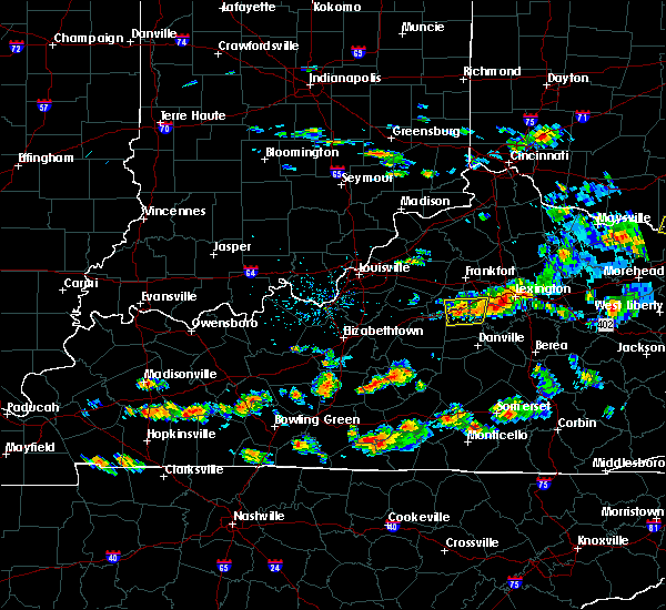 Radar Image for Severe Thunderstorms near Lawrenceburg, KY at 6/29/2015 4:56 PM EDT
