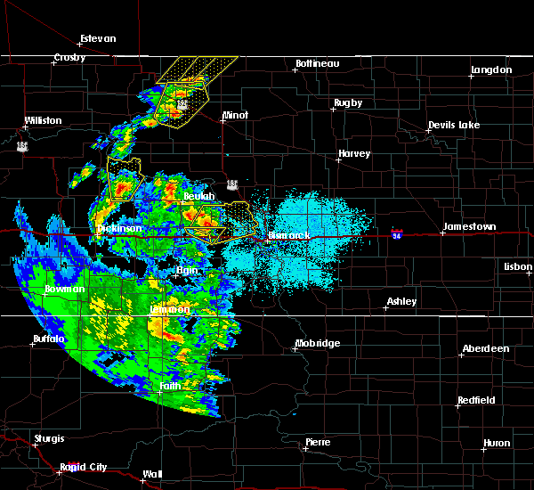 Radar Image for Severe Thunderstorms near Center, ND at 6/16/2020 11:26 PM CDT