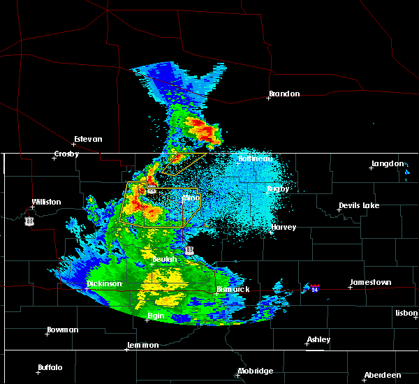 Radar Image for Severe Thunderstorms near Plaza, ND at 6/17/2020 12:24 AM CDT