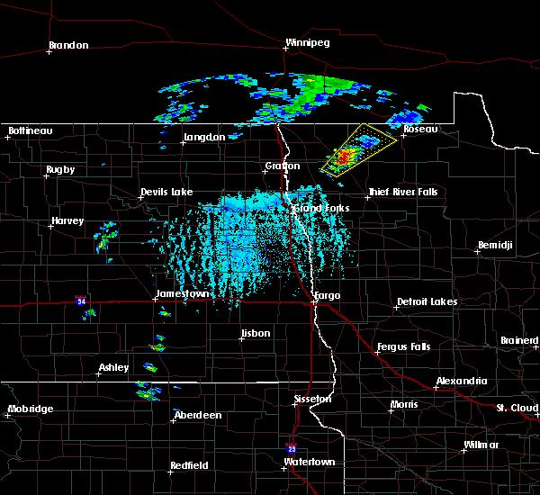 Radar Image for Severe Thunderstorms near Badger, MN at 6/17/2020 5:11 PM CDT