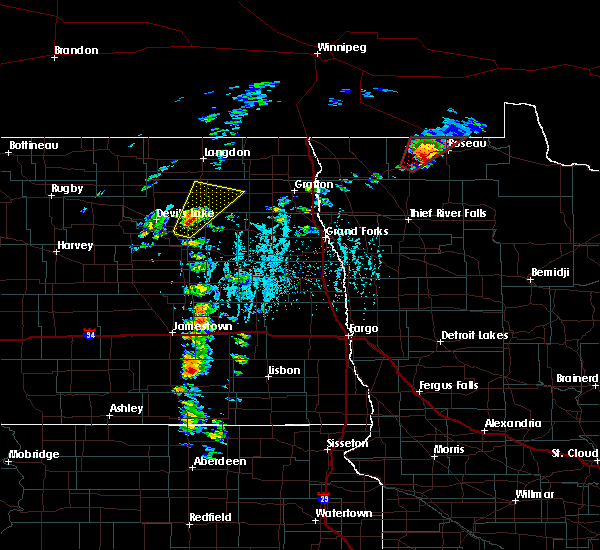Radar Image for Severe Thunderstorms near Roseau, MN at 6/17/2020 6:05 PM CDT