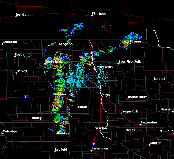Radar Image for Severe Thunderstorms near Leal, ND at 6/17/2020 6:13 PM CDT