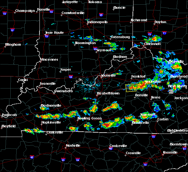 Radar Image for Severe Thunderstorms near Nicholasville, KY at 6/29/2015 5:07 PM EDT