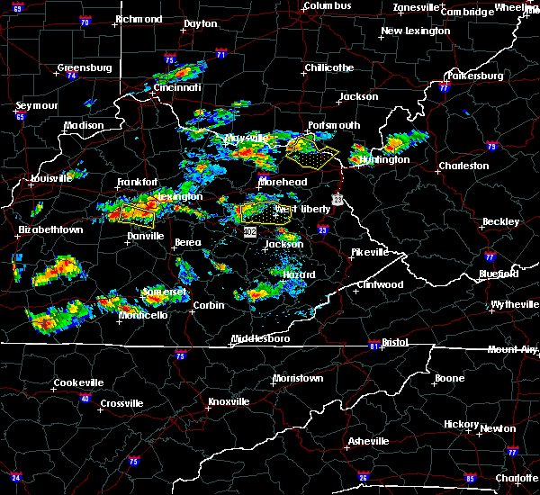 Radar Image for Severe Thunderstorms near Ezel, KY at 6/29/2015 5:12 PM EDT