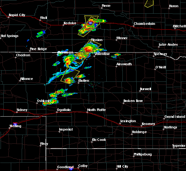 Radar Image for Severe Thunderstorms near Mission, SD at 6/17/2020 7:28 PM CDT
