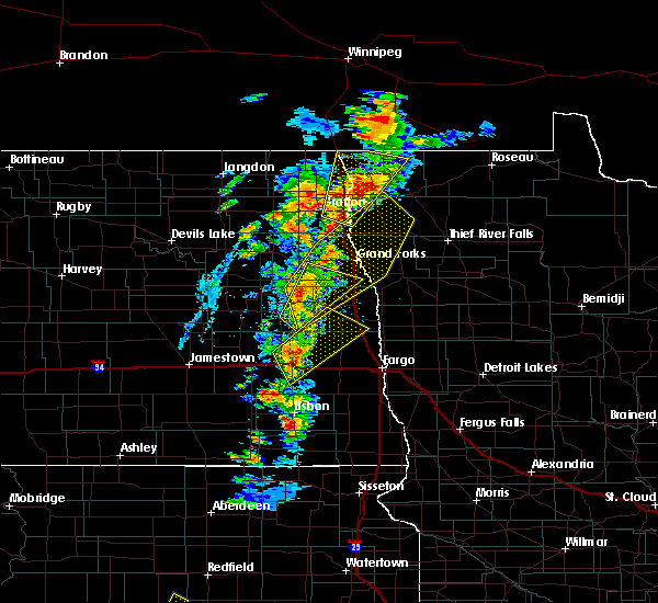 Radar Image for Severe Thunderstorms near Emerado, ND at 6/17/2020 7:42 PM CDT
