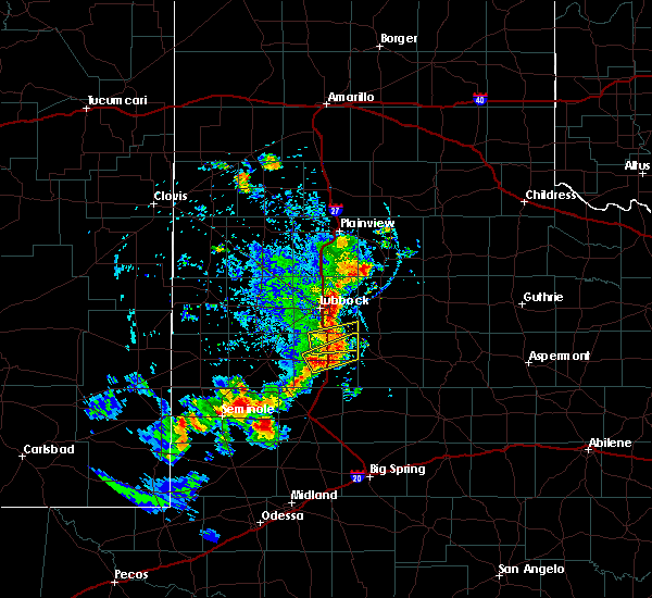 Radar Image for Severe Thunderstorms near New Deal, TX at 6/17/2020 7:53 PM CDT