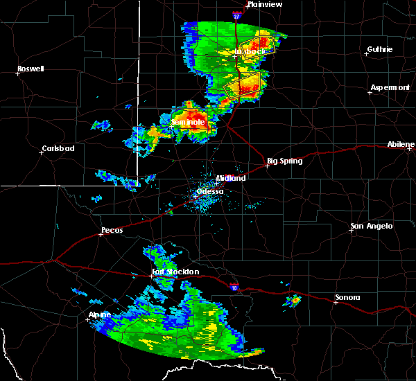 Radar Image for Severe Thunderstorms near Welch, TX at 6/17/2020 8:14 PM CDT