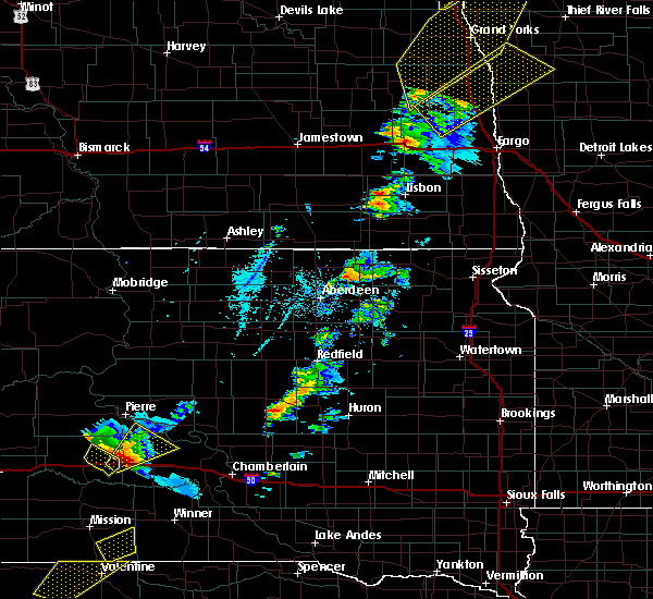 Radar Image for Severe Thunderstorms near Wessington, SD at 6/17/2020 8:24 PM CDT
