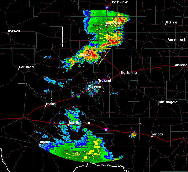 Radar Image for Severe Thunderstorms near Welch, TX at 6/17/2020 8:28 PM CDT