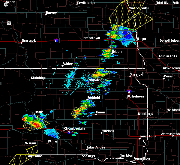 Radar Image for Severe Thunderstorms near Vivian, SD at 6/17/2020 8:34 PM CDT