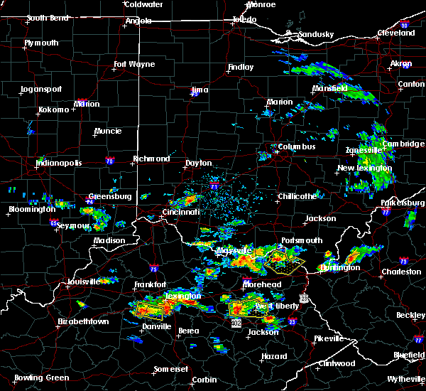 Radar Image for Severe Thunderstorms near Clarksville, OH at 6/29/2015 5:15 PM EDT