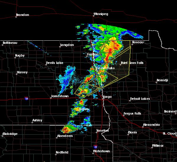Radar Image for Severe Thunderstorms near Badger, MN at 6/17/2020 8:49 PM CDT