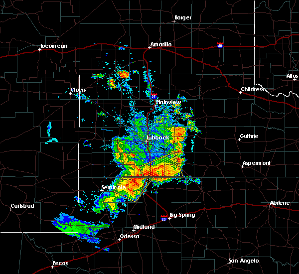 Radar Image for Severe Thunderstorms near Gail, TX at 6/17/2020 8:52 PM CDT