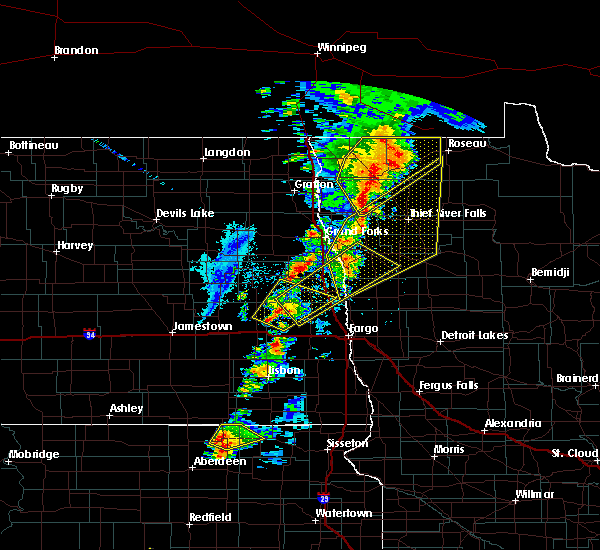 Radar Image for Severe Thunderstorms near East Grand Forks, MN at 6/17/2020 8:54 PM CDT