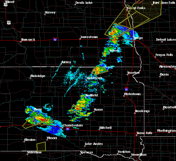 Radar Image for Severe Thunderstorms near Wessington, SD at 6/17/2020 8:59 PM CDT