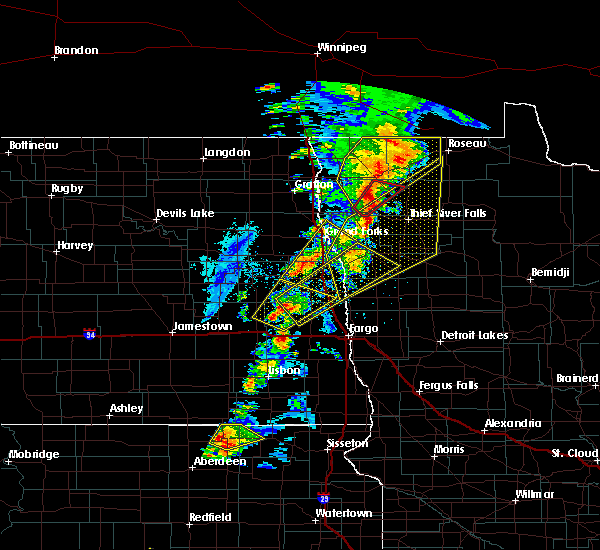 Radar Image for Severe Thunderstorms near Arthur, ND at 6/17/2020 9:01 PM CDT