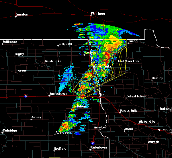 Radar Image for Severe Thunderstorms near Roseau, MN at 6/17/2020 9:05 PM CDT