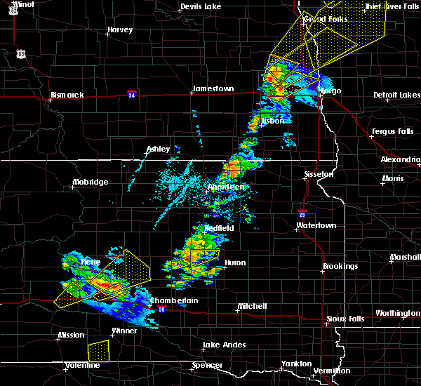 Radar Image for Severe Thunderstorms near Wessington, SD at 6/17/2020 9:05 PM CDT