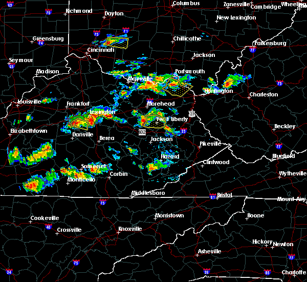 Radar Image for Severe Thunderstorms near Ezel, KY at 6/29/2015 5:22 PM EDT