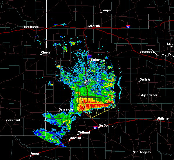 Radar Image for Severe Thunderstorms near Gail, TX at 6/17/2020 9:19 PM CDT