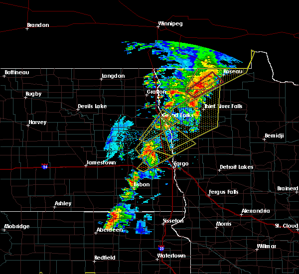 Radar Image for Severe Thunderstorms near Thief River Falls, MN at 6/17/2020 9:22 PM CDT